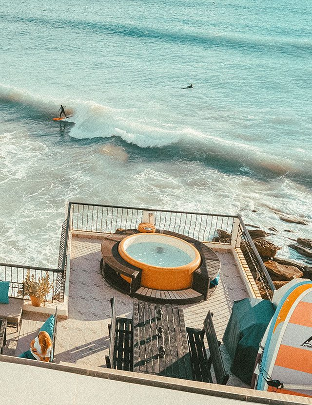 Surfing in Taghazout at DFrost Almugar - Coastal paradise in Morocco